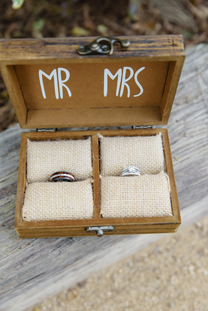 Mr. and Mrs. Wedding Ring Box