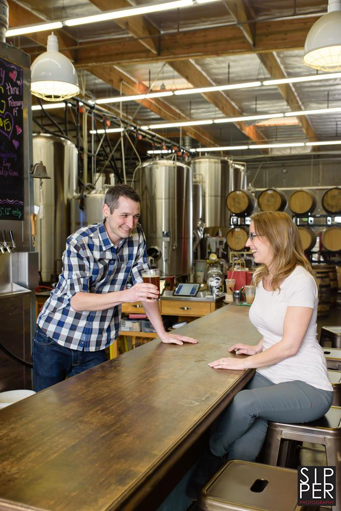 , Smog City Brewing Co. Engagement Session   Ryan + Erin, Sipper Photography